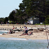 Salisbury: The shores of the Merrimack at the Salisbury Beach Reservation were packed with fishermen enjoying the beautiful weather Sunday afternoon. Photo by Ben Laing/Staff Photo