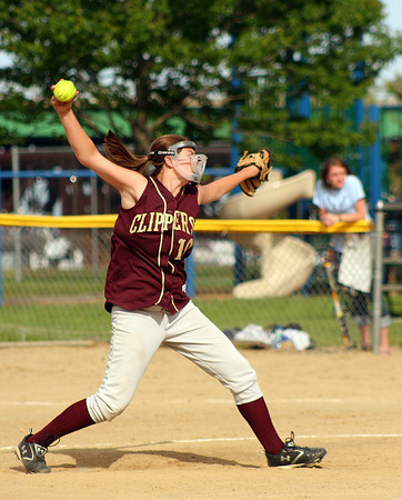 Newburyport: Newburyport's Beth Castantini (10) delivers a pitch during Monday's victory over Wilmington. Photo by Ben Laing/Staff Photo
