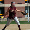 Byfield: Newburyport pitcher, Beth Castantini (10) prepares to deliver a pitch during the early innings of Monday's game at Triton. Photo by Ben Laing/Staff Photo