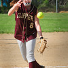 Newburyort: Newburyport pitcher Molly Rowe hurls against Amesbury yesterday at Cashman Park. Bryan Eaton/Staff Photo