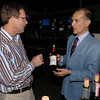 Salisbury: Leary's Fine Wine owner Todd Baltich and Castello Vicchiomaggio owner John Matta at a wine and dinner pairing at Capri Seaside Restaurant at Salisbury Beach. Matta was named Italian winemaker of the year. Bryan Eaton/Staff Photo