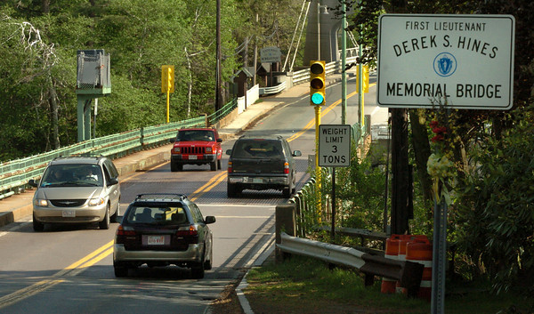 Amesbury: The Derek Hines Memorial Bridge will be closed for repairs this fall. Bryan Eaton/Staff Photo