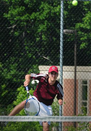 Amesbury: Newburyport all-league second doubles player Tony Dube. Bryan Eaton/Staff Photo