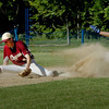 Georgetown: Georgetown's Ryan Browner steals second base as the ball gets past Newburyport second baseman Ben Tyler. Bryan Eaton/Staff Photo