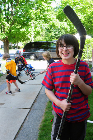 Newburyport: Quinn Campbell is organizing Hockey in the Hood, a street hiockey fundraiser on Sunday that combines her love of hockey and her desire to help people. Bryan Eaton/Staff Photo