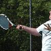 Newburyport: Pentucket's Ryan Swanson in first singles with Newburyport. Bryan Eaton/Staff Photo