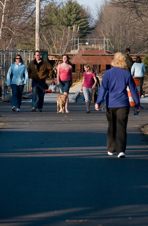Newburyport: Nice days bring out throngs of people on the Newburyport section of the Rail Trail. Bryan Eaton/Staff Photo