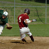 Newburyport: The ball flies past Pentucket shortstop MIke Dowd as Newbuyport's David Grabowski makes the steal. Bryan Eaton/Staff Photo