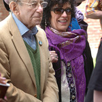 Amesbury: Al Capp's daughter Julie Cairol and her husband, Julien, attended the presentation of a mural of her father's life in Amesbury's Upper Millyard on Saturday morning during the Amesb ...