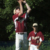Georgetown: Newburyport's Ben Tyler catches a Georgetown flyball. Bryan Eaton/Staff Photo