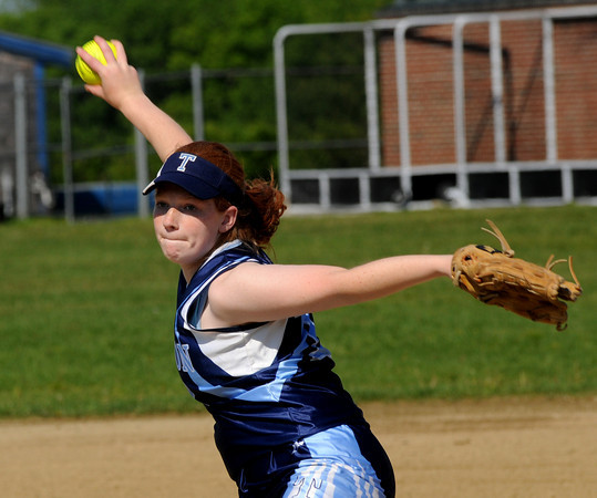 Byfield:Triton's Marion Dullea pitches against Amesbury at Triton friday. Jim Vaiknoras/Staff photo
