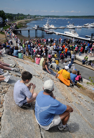 Newburyport: A large crowd gathers for the ceremony officially opening the Newburyport Rail Trail Sunday morning. Jim Vaiknoras/Staff photo