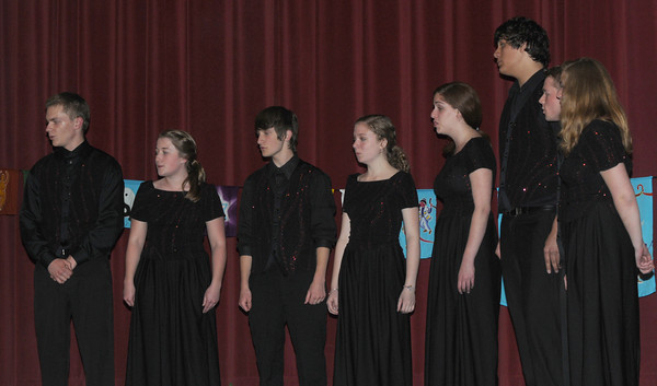 newburyport: The Newburyport High School Varsity Choir performs at the 15th annual Peace Prize Ceremony Wednesday night at Newburyport City Hall. Jim Vaiknoras/Staff photo