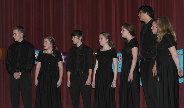 newburyport: The Newburyport High School Varsity Choir performs at the 15th annual Peace Prize Ceremony Wednesday night at Newburyport City Hall. Jim Vaiknoras/Staff photo