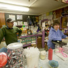 Amesbury: Terry Quinn and her son Jack work behind the counter at Lafayette Lanes . The Amesbury landmark is celebrating 40 years under the ownership of the Quinn family.<br /> Jim Vaiknoras/Staff photo