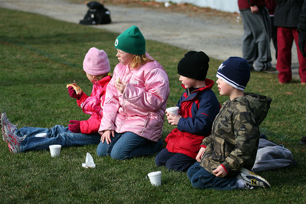 Amesbury: Some young Newburyport fans sit along the sidelines during Thursday's 26-0 win over Amesbury. Photo by Ben Laing/Staff Photo