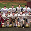 Newburyport: The Newburyport High School football team seniors, front from left, Cam Toye, Peter Furlong, Dean Cataldo, Sam Barlow, Sean Carey, back from left, Tim Lawler, Andrew Ross, Ryan O'Connor, Jonathon Wright, Keagan Gorman, and Tim Regan. Photo by Ben Laing/Staff Photo