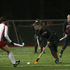 Reading: Newburyport's Cassaundra Davis (13) brings the ball up the field Tuesday night, as the Clippers' took on Watertown in what would be their final game of the season. Newburyport would fall to Watertown 3-0. Photo by Ben Laing/Staff Photo