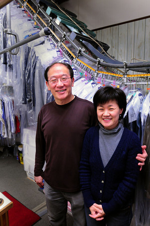 Newburyport: Tom and Jenny Ko, natives of Korea, run the Port Plaza Cleaners. Bryan Eaton/Staff Photo
