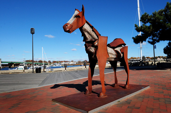 Newburyport: The city of Newburyport wants to buy this sculpture on the waterfront to put on the Rail Trail. Bryan Eaton/Staff Photo