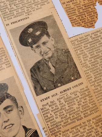 Newburyport: A photo of Albert Coltin in Hartnett's scrapbook told of his service in the Phillipines. The city native later became the postmaster of the Newburyort Post Office. Courtesy Photo/Daily News