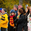 Newburyport: Newburyport High girls soccer fans were well bundled against the cold as they watched the team defeat Bedford at the Cherry Hill Field yesterday. Bryan Eaton/Staff Photo