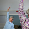 West Newbury: Marge Peterson, former West Newbury town clerk,  takes yoga in classes at the 1910 Building on Fridays. Bryan Eaton/Staff Photo