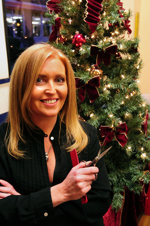 Newburyport: Irish-born Elaine Devereaux works at the Inn Street Barbershop. Bryan Eaton/Staff Photo