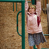 Amesbury: Erin Courtemanche, 5, tries her strength on the monkey bars at the Cashman School in Amesbury yesterday. The kindergartner and her classmates got to go out for their morning recess, though they may be inside this morning as rain is expected with clearing in the afternoon. Bryan Eaton/Staff Photo