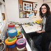 Amesbury: Artist Rachel Kohn is a new exhibitor in this year's Artisans in the Open holiday show. She creates 2-D electrical tape art. JIm Vaiknoras/Staff photo