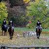 Newbury: Horses and hounds from the Myopia Hunt Club approach the Lower Green along the base of Old Town Hill during thier hunt through Newbury Saturday. Jim Vaiknoras/Staff photo
