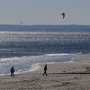Newbury: A pair of walkers and a pair of gulls enjoy a cold bright Sunday morning on Plum Island. Jim Vaiknoras/Staff photo
