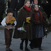 "Newburyport: The cast of ""A Christmas Carol"" playing this December at the Firehouse make their way to the Tree Lighting at Market Square in newburyport Sunday night. Jim Vaiknoras/Staff photo"