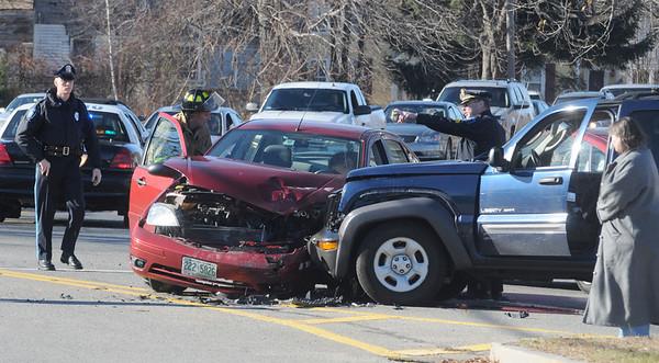 Salisbury:Scene of a 2 car crash on rt 110 ib Salisbury Sundaty morning. Jim Vaiknoras/Staff photo