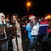 Salisbury: Musicians from the Salisbury Elementary School perform at the annual Tree Lighting in Salisbury Sunday night. Jim Vaiknoras/Staff photo