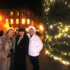 Newburyport: Lynne Thomson, Rene Gold, and Helen Hennigan stand by the Christmas Tree in Market Square in Newburyport Friday night. The trio are part of a group of women who travel up from the Boston Area every year for Invitiation night in Newburyport. Jim Vaiknoras/Staff photo