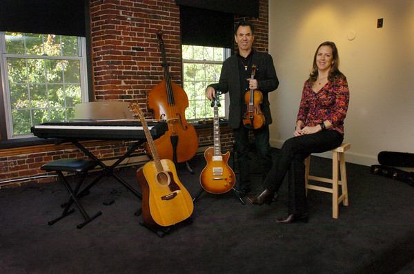 Amesbury: EJ Ouellette and Mimi Sparrow have opened a new music studio in Amesbury's Lower Millyard. Bryan Eaton/Staff Photo