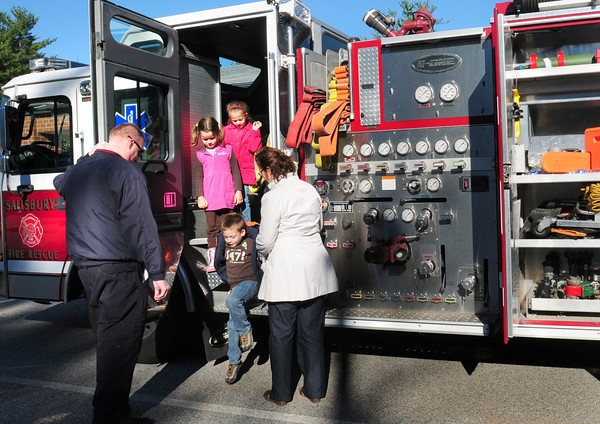 Salisbury: Salisbury Elementary School kindergartners and first-graders got to tour two Salisbury Fire Department engines recently and then got to ask the firefighters a myriad of questions. The department is also holding an open house at the station on Saturday, October 23. Bryan Eaton/Staff Photo
