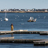 Newburyport: As the temperatures drop, so have the number of boats in the Merrimack River in Newburyport as they're hauled out of the water with the docks soon to follow. Bryan Eaton/Staff Photo