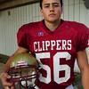 Newburyport: Newburyport High School football captain Dean Cataldo. Bryan Eaton/Staff Photo