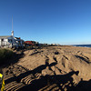 Newbury: The area of Plum Island center which has been ravaged by erosion has been completely filled in with sand dredged from the mouth of the Merrimack. Photo by Ben Laing/Staff Photo