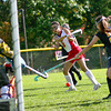Amesbury: Amesbury's Amanda Schell (5) rips a shot at the Lynnfield goal during Monday morning's game at Amesbury High. Photo by Ben Laing/Staff Photo