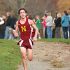 Newburyport: Chris Suprin of Newburyport finishes first during their meet with Amesbury at Maudsaly State Park. Photo by Ben Laing/Staff Photo