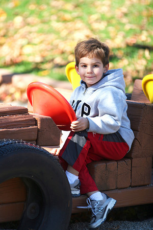 Amesbury: Ethan Sheehan, 4, of Merrimack, takes his eyes off the road while playing at Amesbury Town Park Monday afternoon. Photo by Ben Laing/Staff Photo