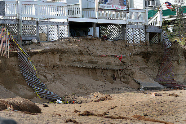 Newbury: The beach in front of Jeannie's at Plum Island center as of Monday October 11th. Photo by Ben Laing/Staff Photo