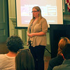 Newburyport: Newburyport Youth Services director, Andrea Egmont, adresses a gathering of local residents at City Hall Wednesday night as part of the Beacon Coalition's Call To Action program. Photo by Ben Laing/Staff Photo