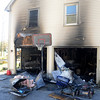 Newbury: House on Fruit street in Newbury site of an arson fire Friday night. Jim Vaiknoras/Staff photo