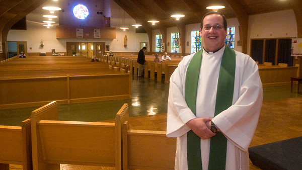 Rowley: The new priest at St Mary's in Rowley Father Robert Poitras. Jim vaiknoras/Staff photo