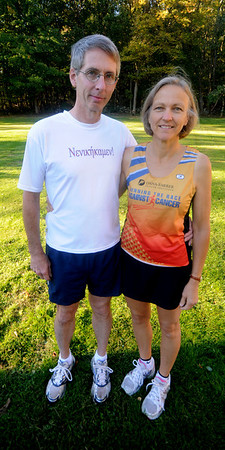 West Newbury: Chris and Nancy Wile (along with their daughter) will be running in the 2,500th running of the original Greek Marathon on Oct. 31.<br /> Jim Vaiknoras/Staff photo