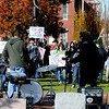 Newburyport: Jake Martin and his dad Ben perform  at the Rally to Restore Sanity in Brown Square in Newburyport Saturday. Jim Vaiknoras/Staff photo